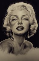 Marilyn Monroe Portrait by Kentcharm