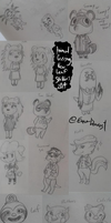 Animal Crossing: New Leaf Sketch Dump by EnnaDearest