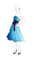 Blue party dress by Monkey-Designs