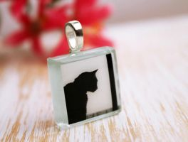 The observer. Glass pendant. by earthexpressions