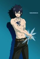 Gray Fullbuster Coloured by Tonesko