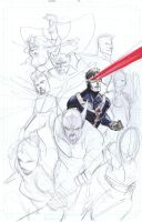 X-men  Cyclop Con sketches jam by Peter-v-Nguyen