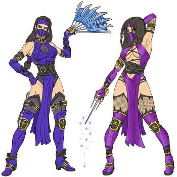 Kitana and Mileena by RazorsEdge701