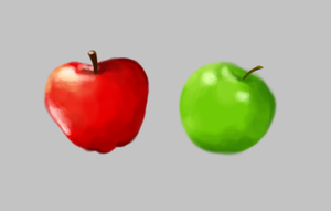Apple color study by SayuriKurata09