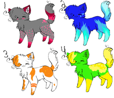 Kitty Adoptables .:OPEN:. by ariskies