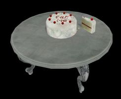 MMD Eat Me Cake + Table by 0-0-Alice-0-0