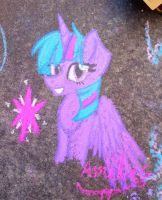 Princess Twili chalk art ^w^ by Milliemewz