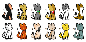 FREE Cat Adoptables GONE by DaisyWarriorCats