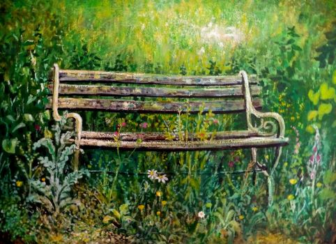 garden bench by rodulfo