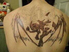 Stardust Dragon Tattoo 50% Shading by Leimary