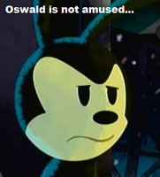 Oswald is not amused... by hexpinteas