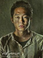 The Walking Dead: Glenn: Oil Paint Re-Edit by nerdboy69