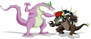 Spike vs Giga Bowser by Koopa-Master