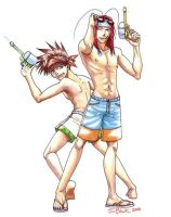Saiyuki - Summer Buddies by jibii