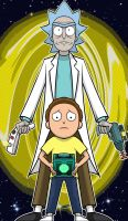 Rick and Morty by Thuddleston