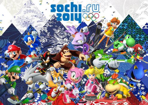 Mario and Sonic Sochi 2014 V3 by Griddler6