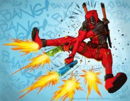 DEADPOOL: BANG! BANG! by ArtistAbe