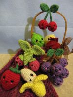 Kawaii Fruit 2.0 by NerdyKnitterDesigns
