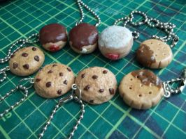 Cookies and Donuts Keychain charms by Vinnie14
