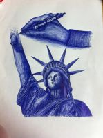 Statue of liberty - ink by xxeks