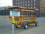 Bicycle powered beer truck by Mythtail