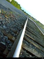 Railroad track shot 4 by Wyel