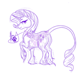 Rarity Doodle by TheMerryWolf