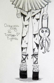 Octopuss Bag and Scary Tattoo tights by NoolieDuDu