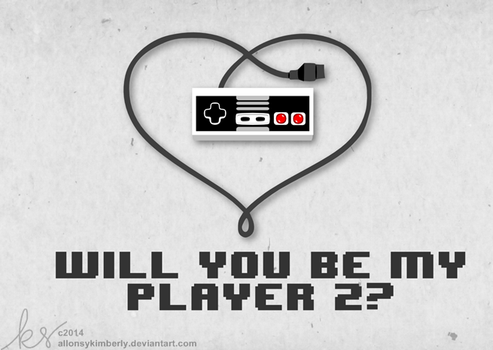 Will You Be My Player 2 Valentine's Day Card by allonsykimberly