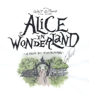 Alice  in  WONDERLAND-logo by DemonCartoonist
