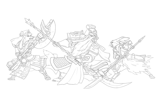 Dynasty Warriors: Redwall - Jing Province INKS by chibigingi