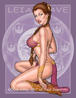 PRINCESS LEIA SLAVE METAL BIKINI 6 by GOODGIRLART