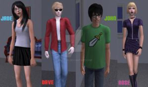 Kids from The sims 2 by SakiChu