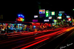 Pattaya beach road by mohsinkhawar