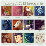 KODAJED's 2013 Summary of Art by KODAJED