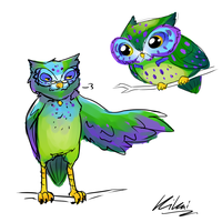 Colorful Owl Concept by KikaiArt