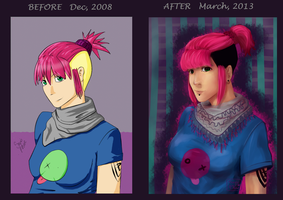 BEFORE AFTER by SajoPhoe