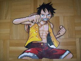 Monkey D. Luffy Bead Sprite 5. by TameFlame