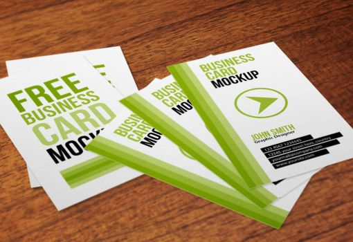 Free Vertical Business Cards Mockup by thearslan