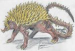 Anguirus V4 by hewhowalksdeath