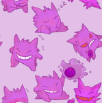 gengars everywhere by shaeriffic