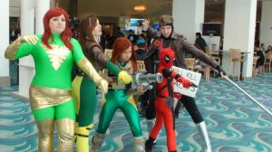 Phoenix, Rogue, Hope Summers, Deadpool, Gambit by trivto