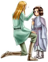 Estel and Legolas by idolwild
