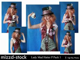 Lady Mad Hatter Portrait Pack1 by mizzd-stock