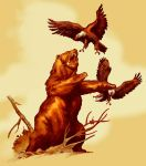 BEAR AND EAGLES - color by benitogallego