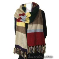 Doctor Who Scarf Super Long Over 6ft Long by Lassarina-Jewelry