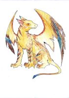 Gryphon dragon adoptible SOLD by Dogmaniac