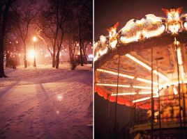snowing in the Gorky Park by Lucem