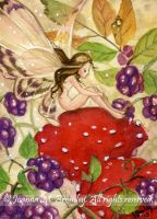 ACEO Blackberry Fae by JoannaBromley