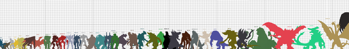 Ultimate Kaiju Size Chart (UPDATED) by SheegothHunter